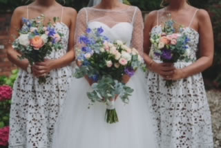 Bridesmaid and their beautiful bouquets