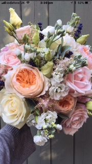 Bridal Bouquet of oranges and Pinks