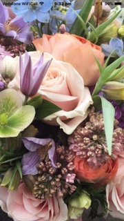 Beautiful Bridal Bouquet of stunning pinks and purples