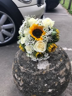 Sunflowers are the thing for a modern Bristol wedding